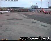 Веб камера - Копенгагена. Аэропорт (вид на сторону самолётов)